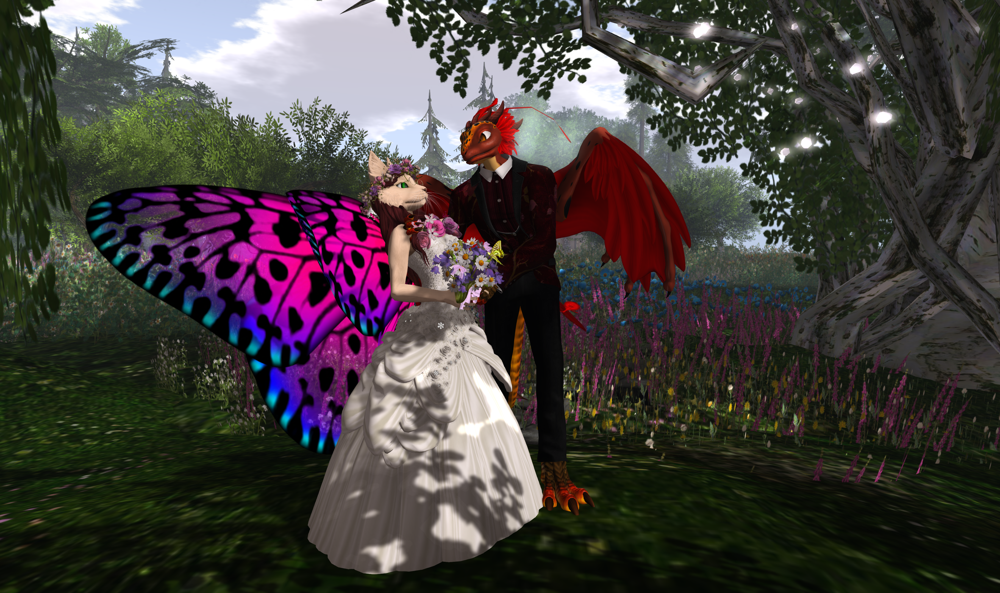 Softpaw The Fairy Cat Of Second Life On The Wings Of Love